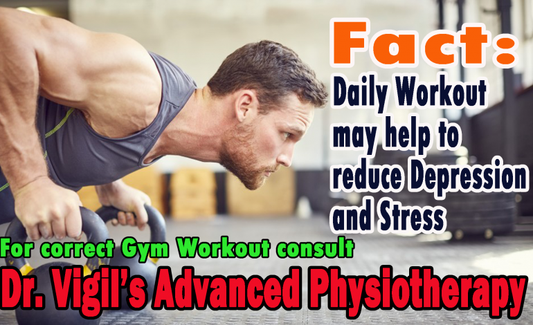 Daily Workout can reduce the Depression and Stress