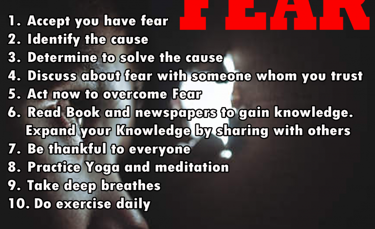 10 ways to How to overcome fears